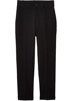 Kenneth Cole Stretch Solid Drawstring Slim Fit Flat Front Flex Wasitband Dress Pants