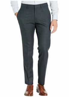 Kenneth Cole Stretch Windowpane Slim Flat Front Dress Pants