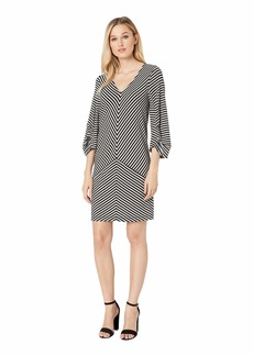 Kenneth Cole Striped Draped Back Dress