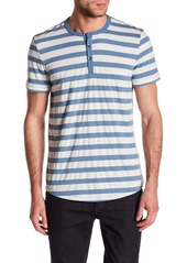 Kenneth Cole Striped Henley Shirt