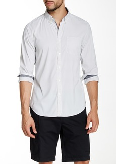 Kenneth Cole Striped Long Sleeve Slim Fit Shirt
