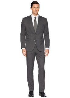"""Kenneth Cole Slim Fit Stretch Performance 32"""" Finished Bottom Suit"""