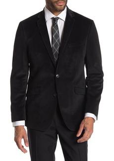 Kenneth Cole Textured Black Velvet Slim Fit Evening Jacket