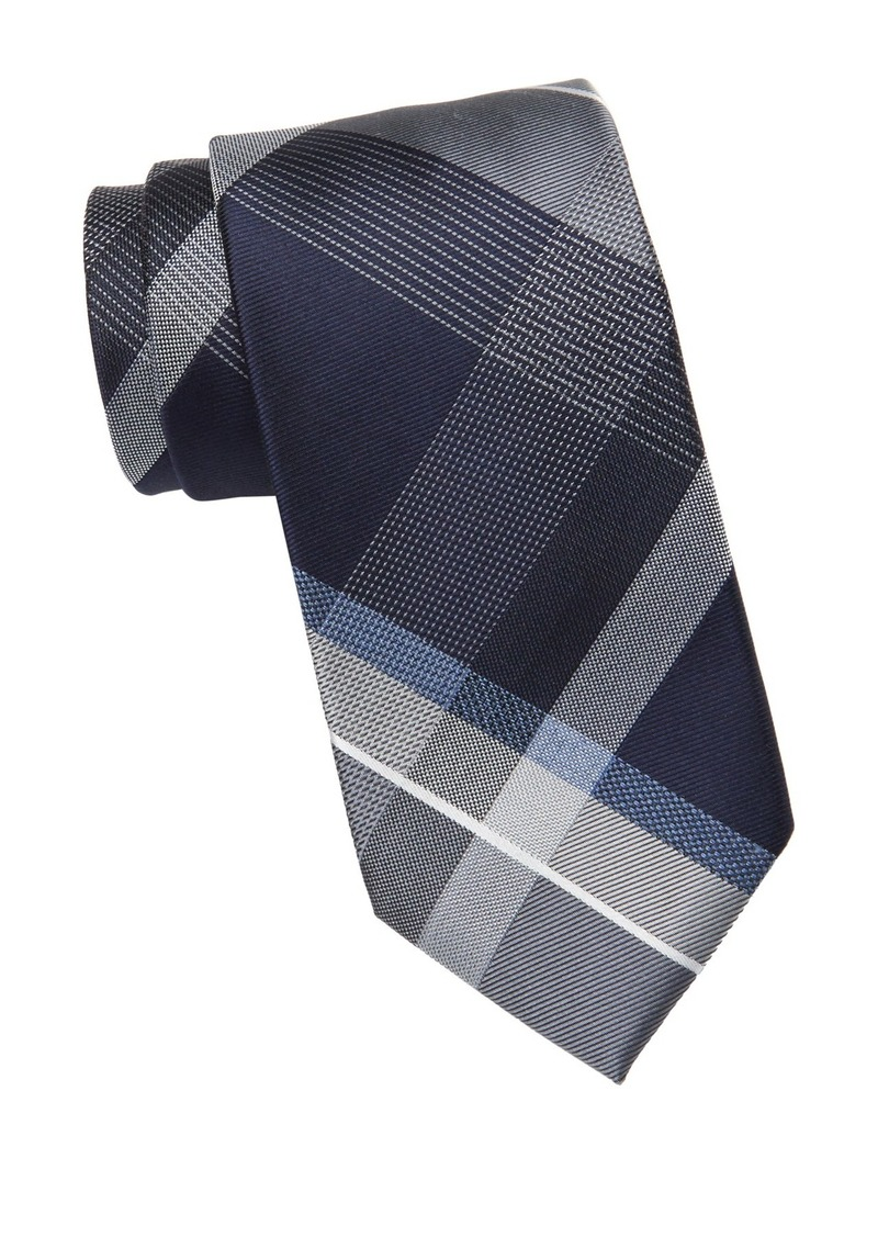 Kenneth Cole Textured Plaid Tie