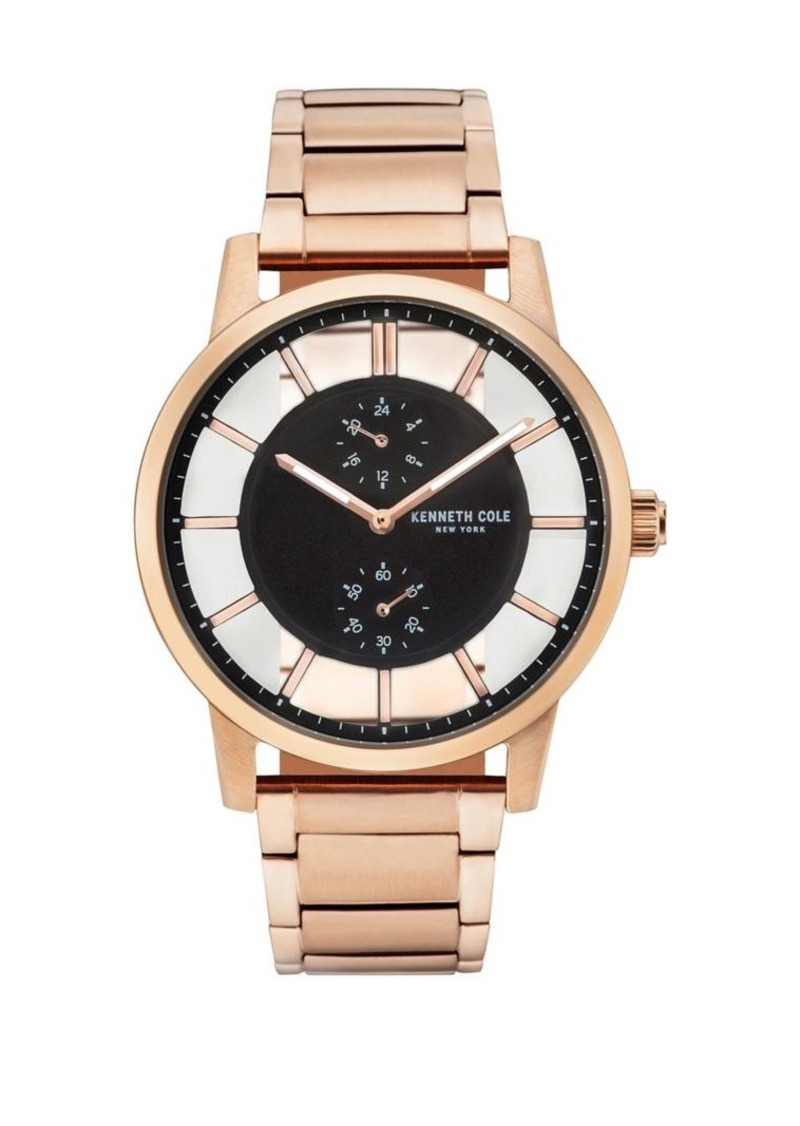 Kenneth Cole Transparency Multifunction Stainless Steel Bracelet Watch