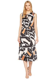 Kenneth Cole Triple Tie Column Dress