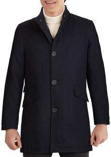 Kenneth Cole Twill Wool-Blend Car Coat