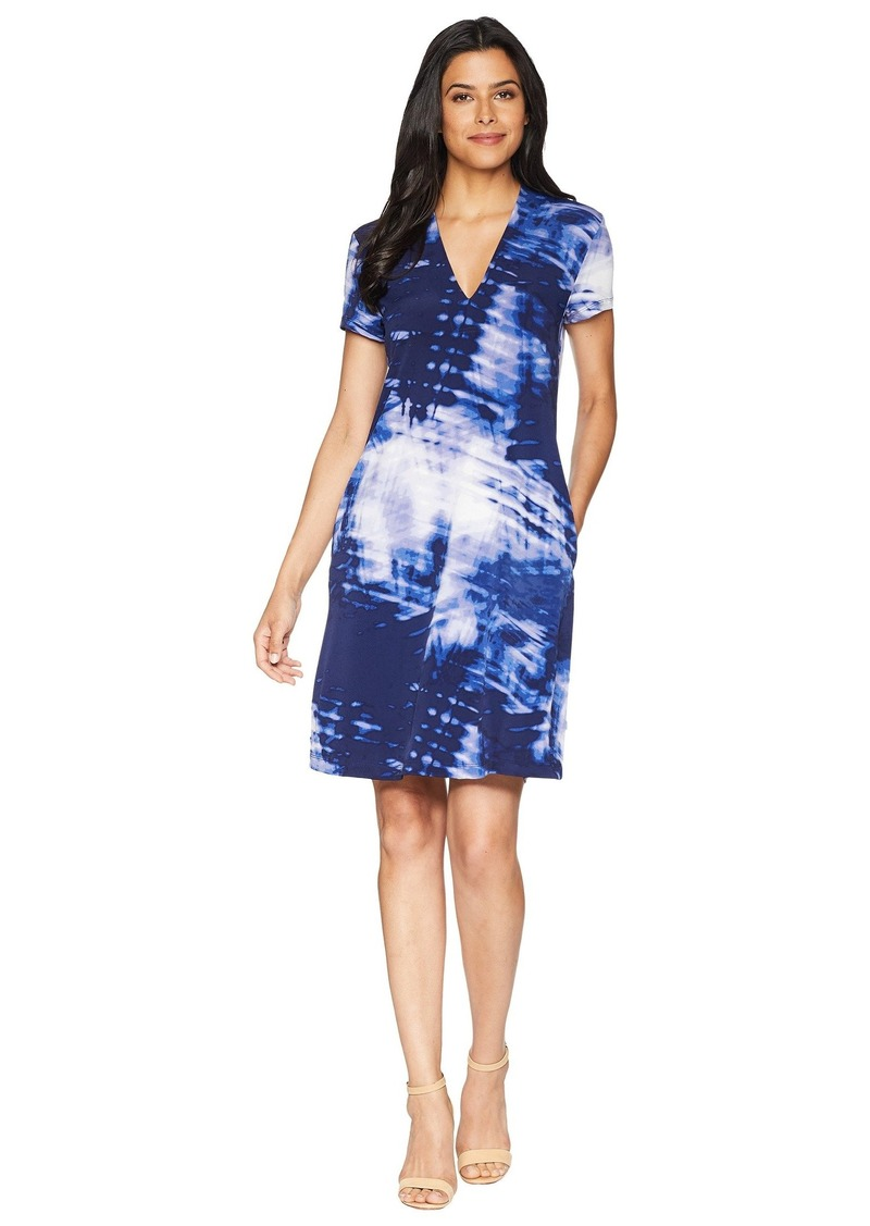 Kenneth Cole V-Neck Dress with Pockets