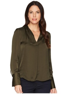 Kenneth Cole V-Neck Long Sleeve Blouse