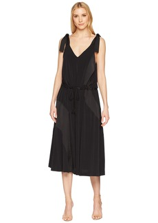 Kenneth Cole V-Neck Shoulder Tie Tank Dress