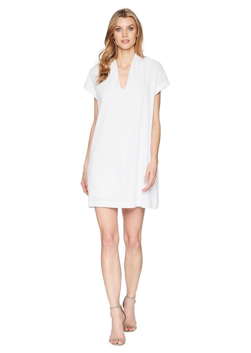 Kenneth Cole V-Neck Tuck Dress