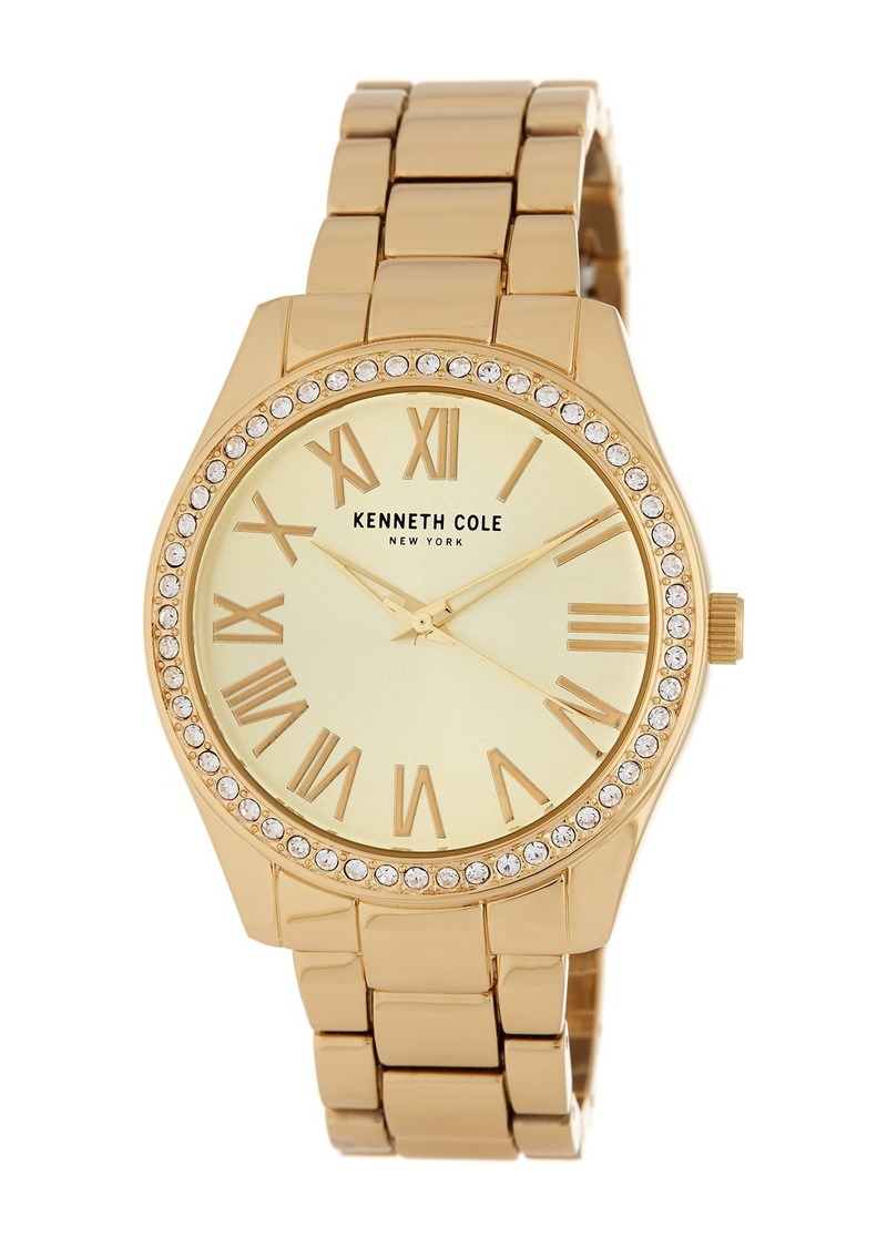 Kenneth Cole Women's 3-Hand Crystal Accented Bracelet Watch, 38mm