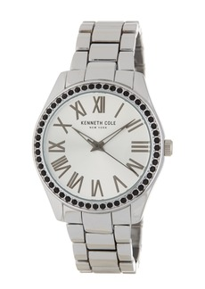 Kenneth Cole Women's Classic Crystal Accented Bracelet Watch, 39.5 x 45mm