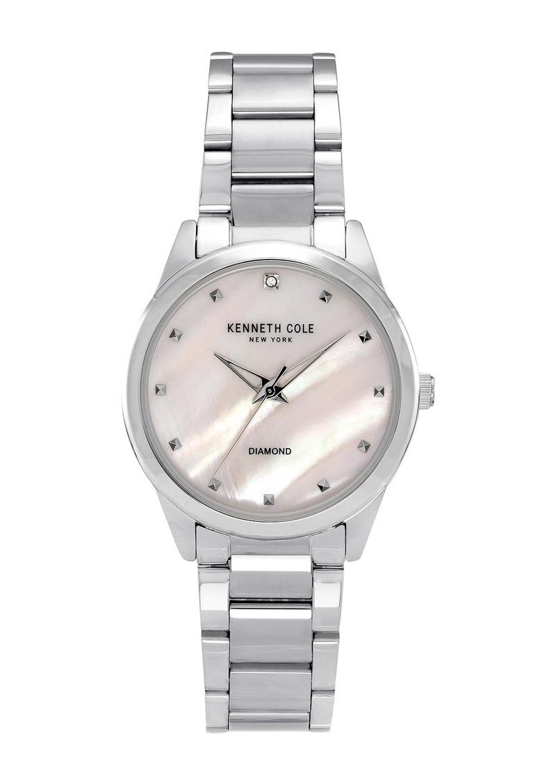 Kenneth Cole Women's Classic Diamond Detail Watch, 34mm, 0.005 ctw