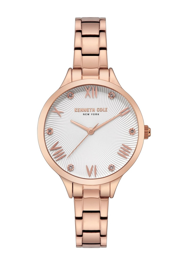 Kenneth Cole Women's Classic Rose Gold Watch, 34mm