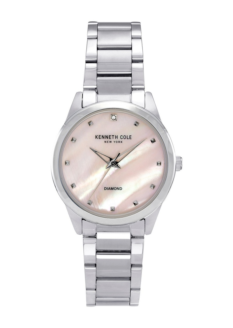 Kenneth Cole Women's Classic Silver Watch, 34mm