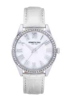Kenneth Cole Women's Classic White Watch, 39.5mm