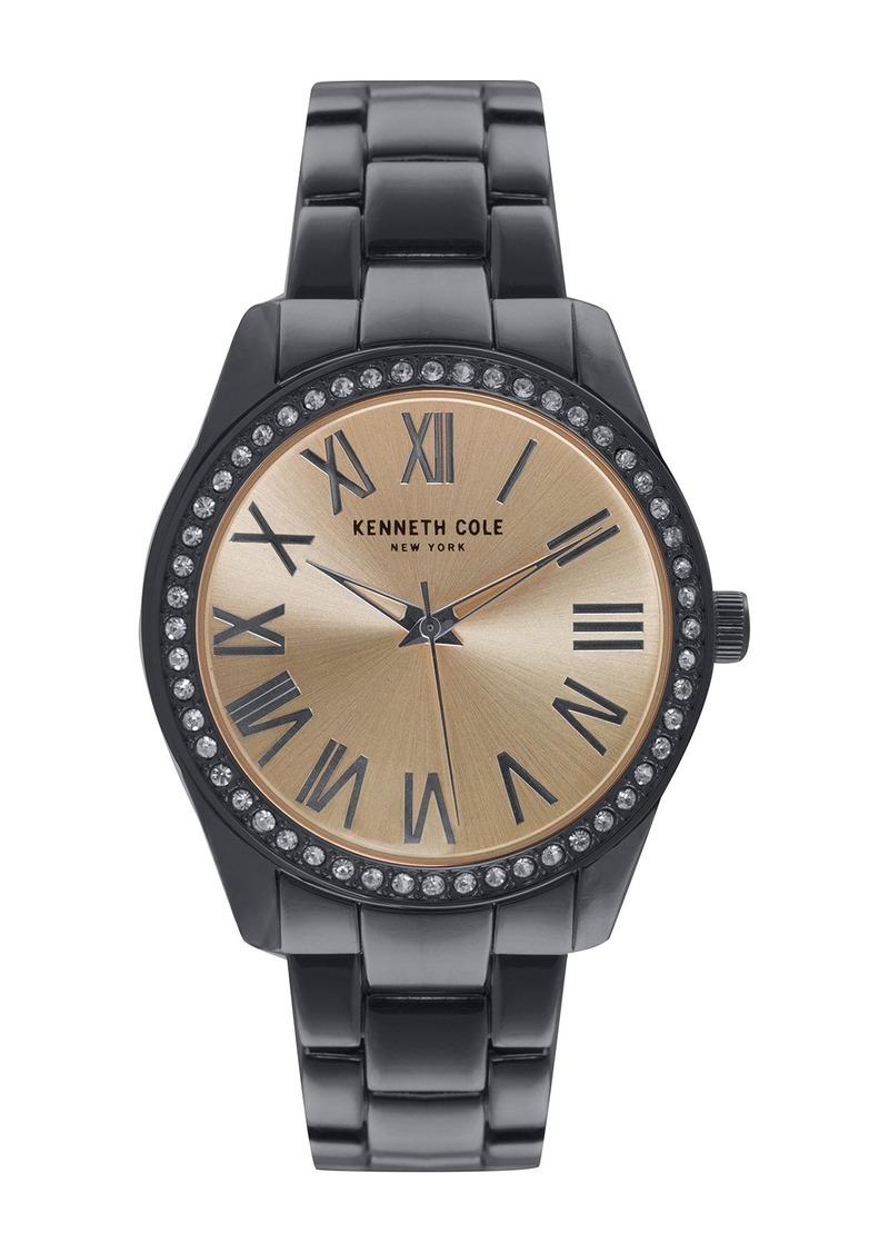 Kenneth Cole Women's Crystal Bezel Bracelet Watch, 39.5mm
