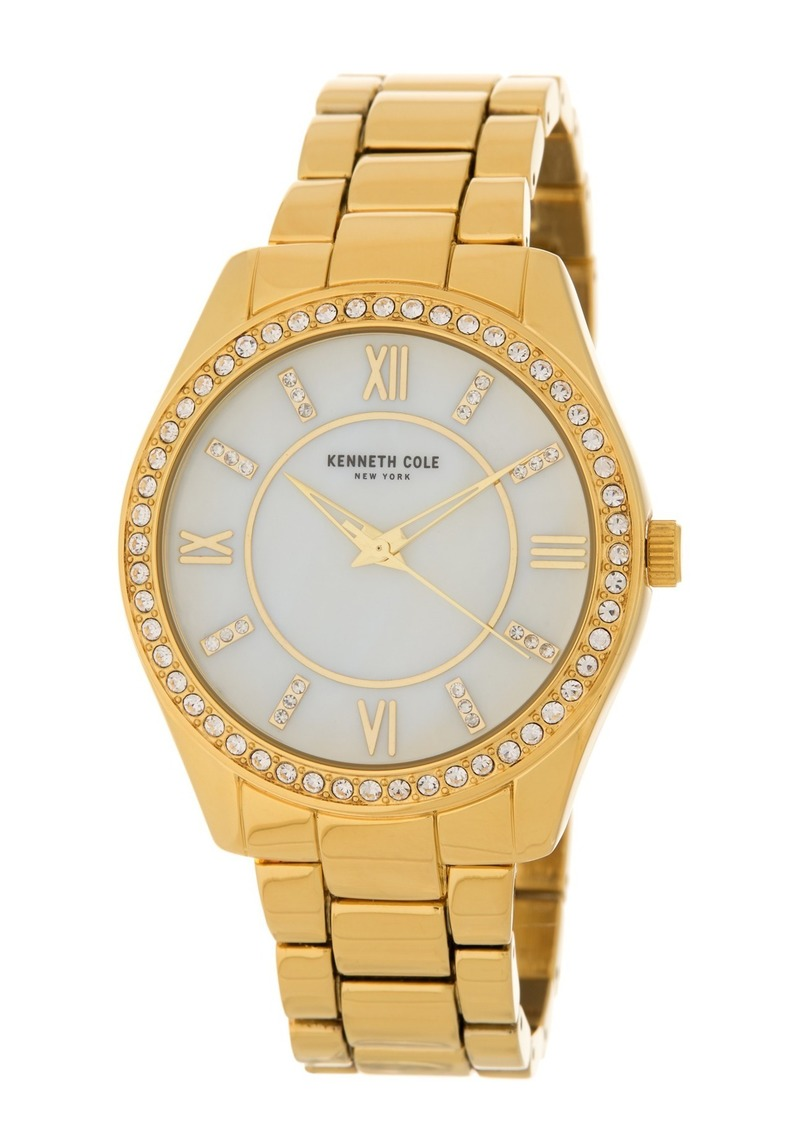 Kenneth Cole Women's Crystal Bezel Bracelet Watch, 40mm
