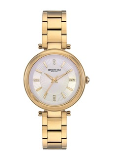 Kenneth Cole Women's Crystal Dial Bracelet Watch, 35mm