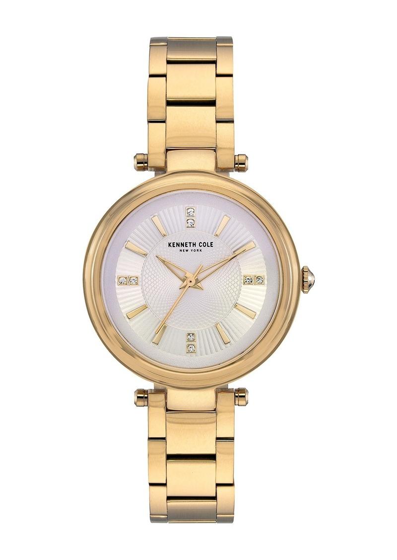 Kenneth Cole Women's Crystal Dial Bracelet Watch, 35mm