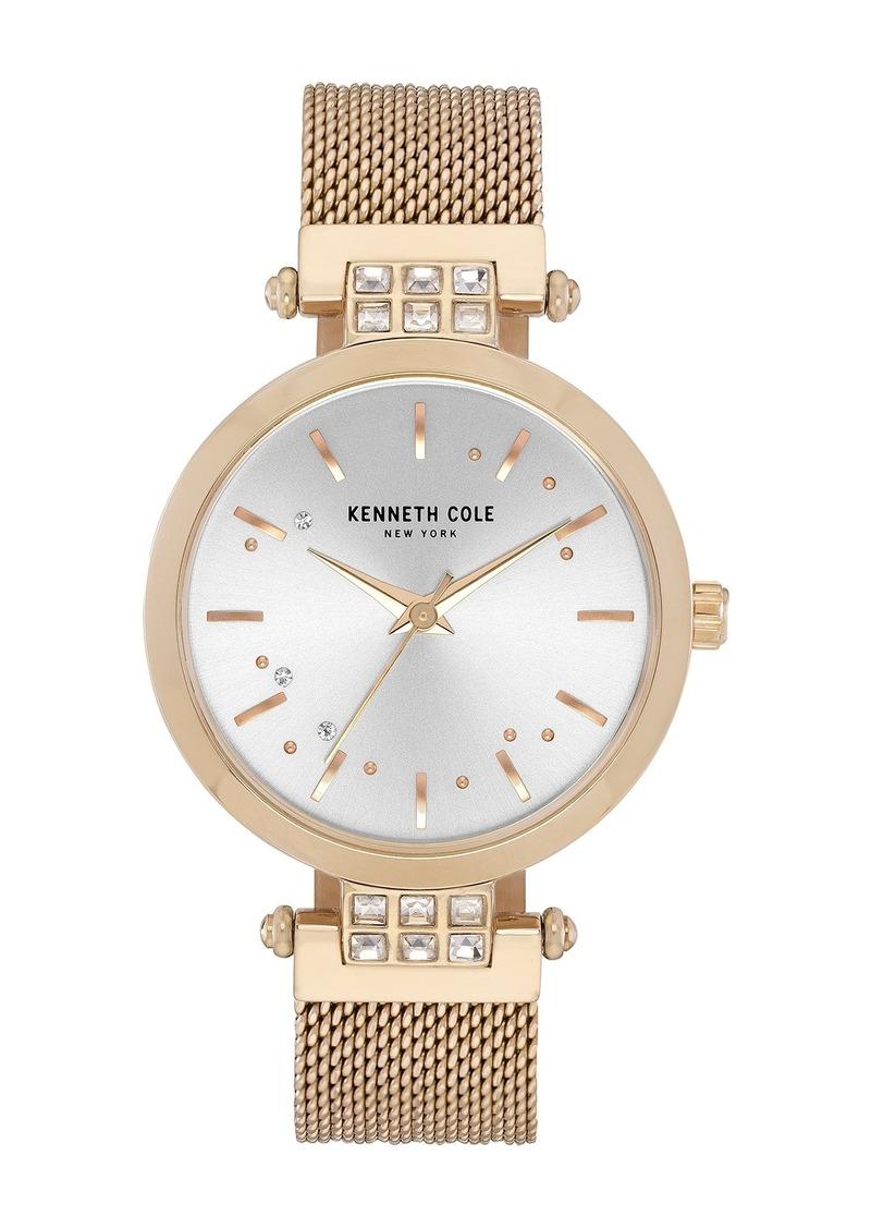 Kenneth Cole Women's Crystal Mesh Strap Watch, 34mm