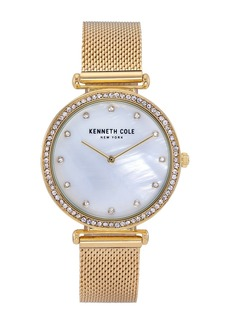Kenneth Cole Women's Embellished Mother of Pearl Bracelet Watch, 36mm