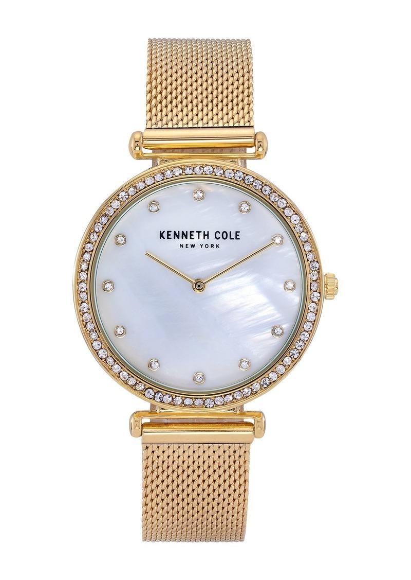 Kenneth Cole Women's Embellished Mother of Pearl Bracelet Watch, 36mm