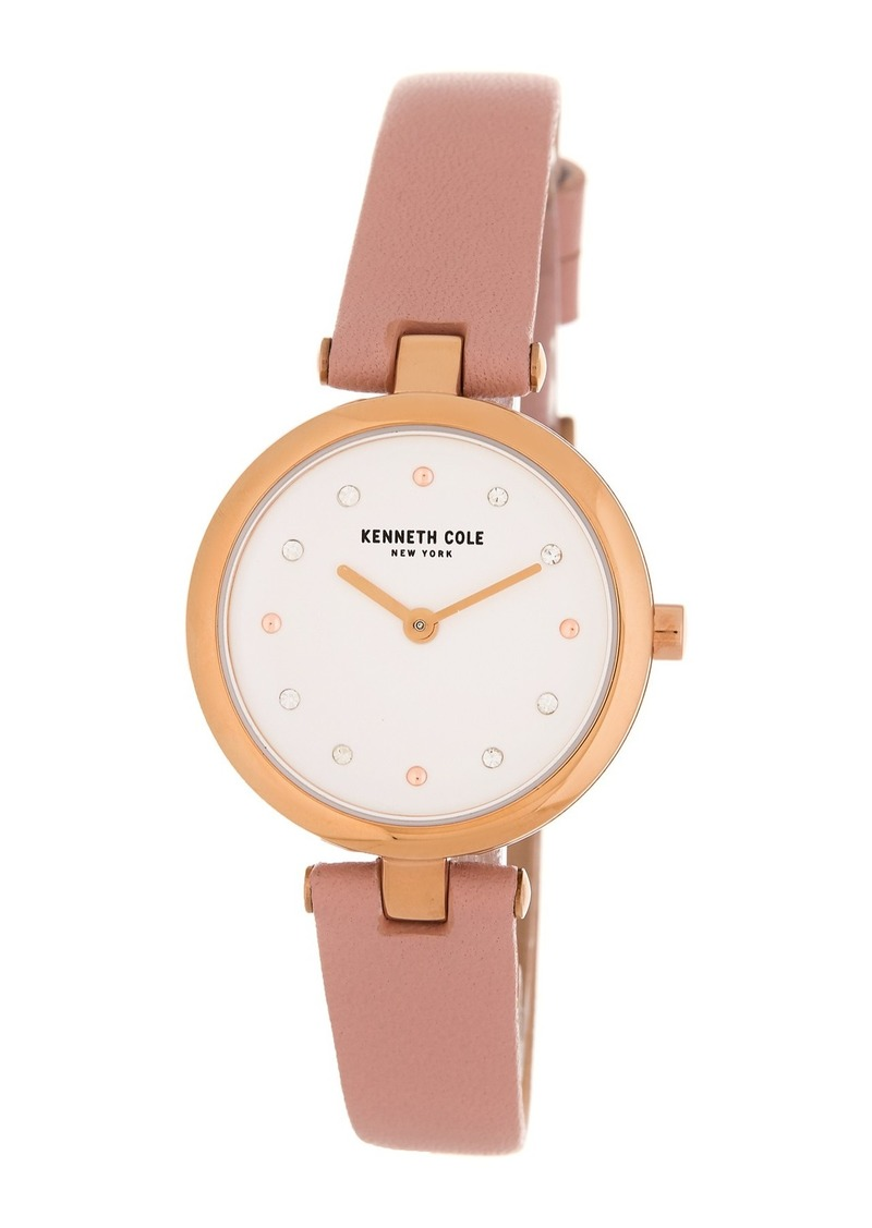 Kenneth Cole Women's Leather Strap Watch, 28mm