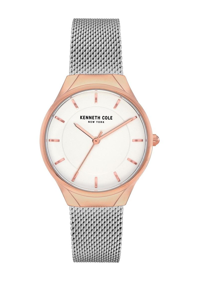 Kenneth Cole Women's Mesh Bracelet Watch, 32mm