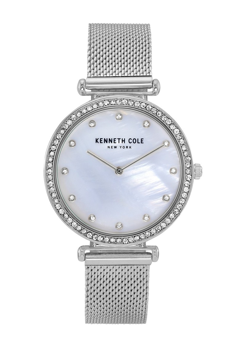Kenneth Cole Women's Mother of Pearl Dial Mesh Strap Watch, 36mm