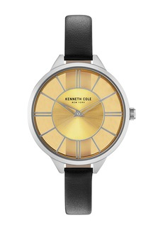 Kenneth Cole Women's Transparency Leather Bracelet Watch, 36mm