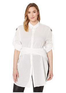Kenneth Cole Wrap Button Down Tunic