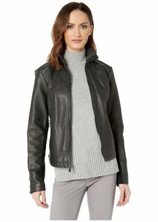 Kenneth Cole Zip Front Jacket w/ Knit Inset