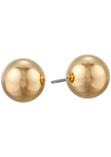 Kenneth Jay Lane 10mm Polished Gold Ball Post Ear Earrings