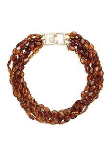 Kenneth Jay Lane 22K Goldplated & Tortoiseshell-Effect Bead Layered Necklace