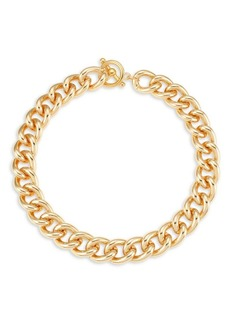 Kenneth Jay Lane 22K Yellow Goldplated Chain Necklace