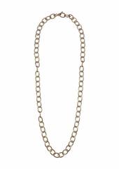 "Kenneth Jay Lane 36"" Satin Gold Oval Link Necklace"