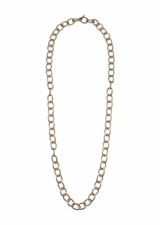 "Kenneth Jay Lane 36"" Satin Gold Oval Link Necklace"