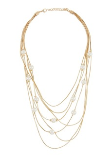 Kenneth Jay Lane 7-Layer Chain Necklace