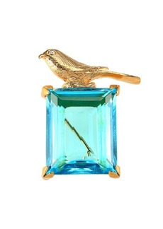 Kenneth Jay Lane Aqua Bird Pin