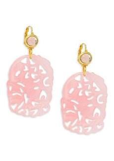 Kenneth Jay Lane Artful Goldtone Drop Earrings
