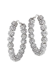 Kenneth Jay Lane Bead Hoop Earrings