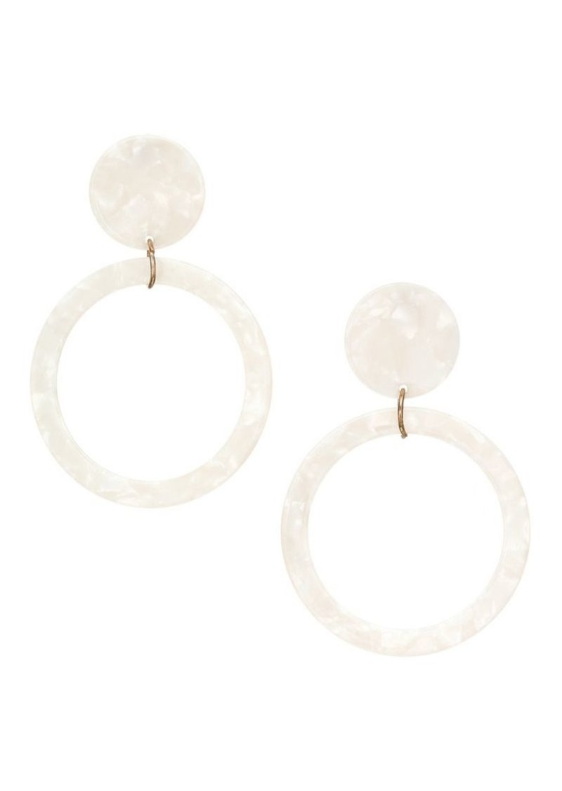 Kenneth Jay Lane Circle Drop Hoop Earrings