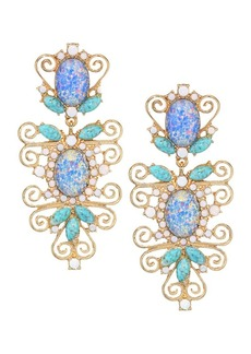Kenneth Jay Lane Clip-On Floral Earrings