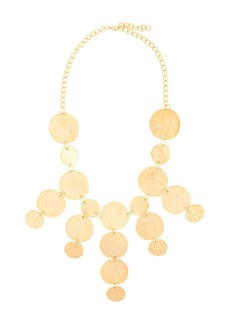 Kenneth Jay Lane coin drop necklace
