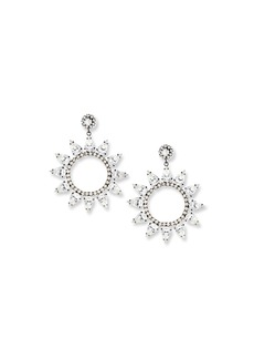 Kenneth Jay Lane Crystal Circle Drop Earrings