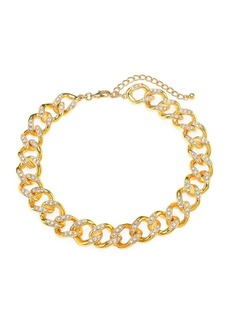 Kenneth Jay Lane Crystal Link Goldplated Necklace