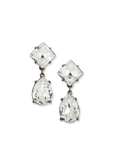 Kenneth Jay Lane Crystal Square & Teardrop Earrings