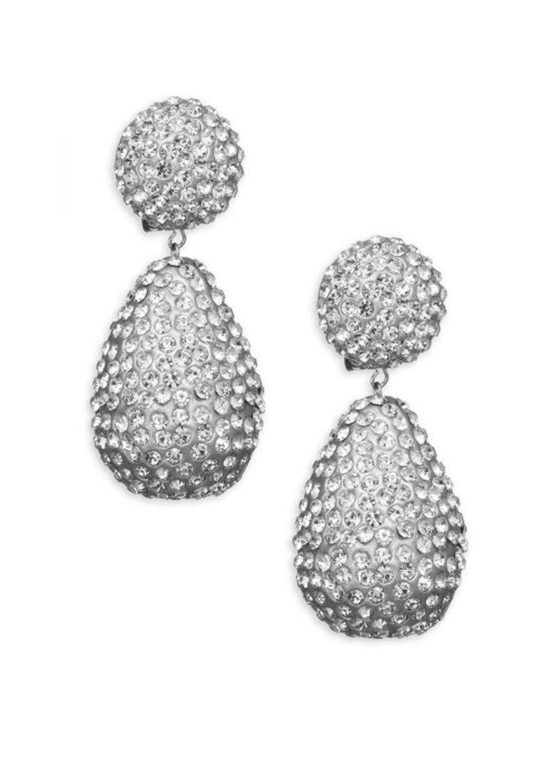 Kenneth Jay Lane Dome Top Crystal Drop Earrings